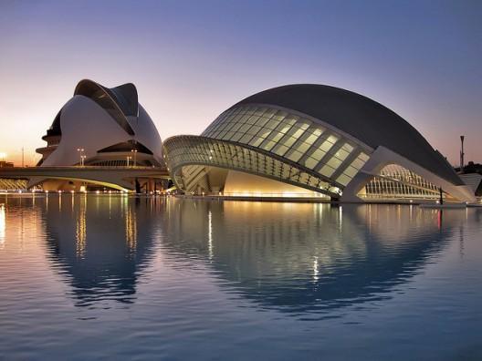 Ciudad de la Artes y las Ciencas Complexe de Santiago Calatrava