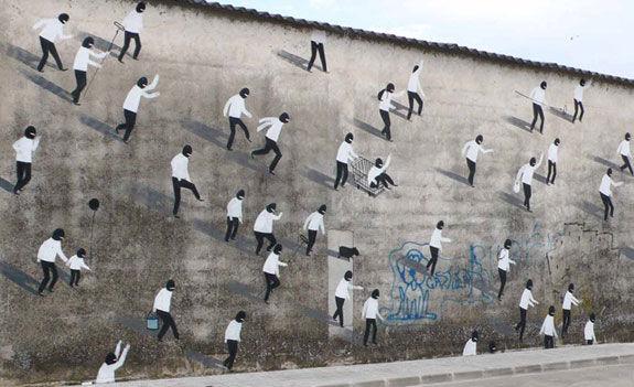 Escif Straßenkunst Valencia