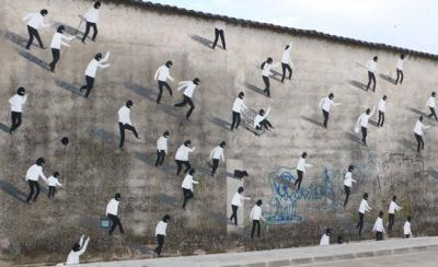 Escif street art in Valencia