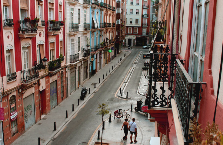 Valencia, Russafa, a trendy area