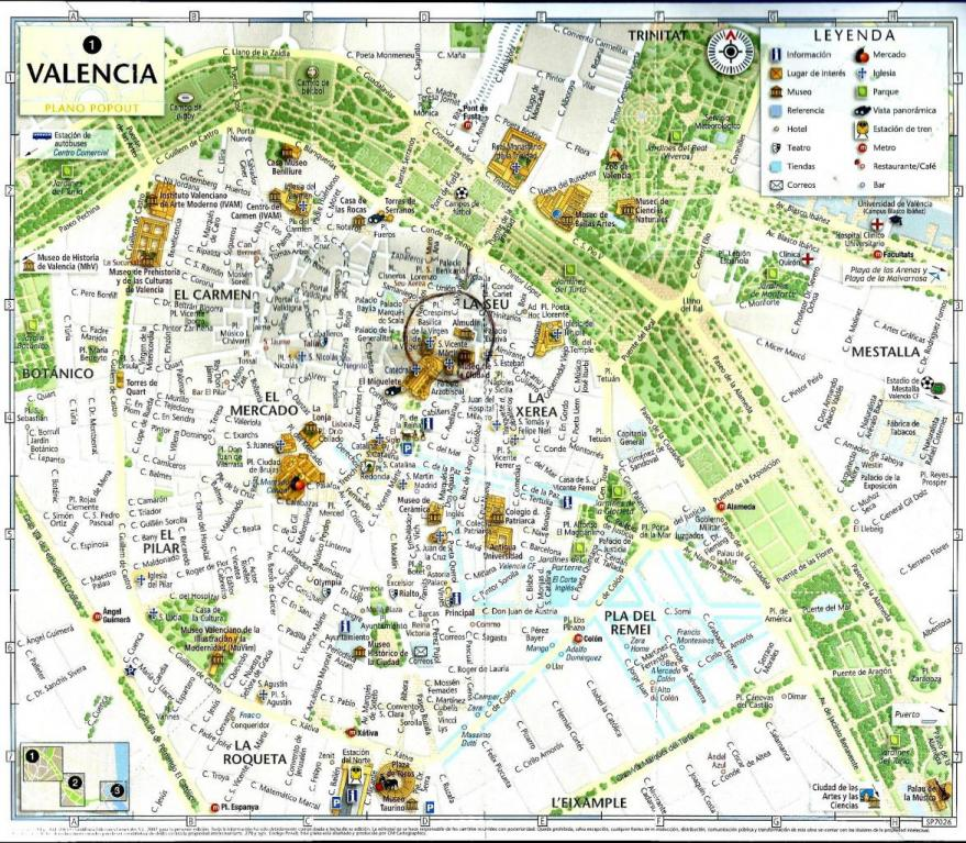 Plan De La Vieille Ville De Valencia